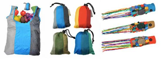 Shoppers en windvangers van parachutestof