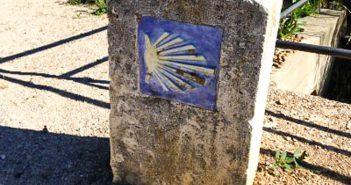Christelijk symbool op Camino de Santiago