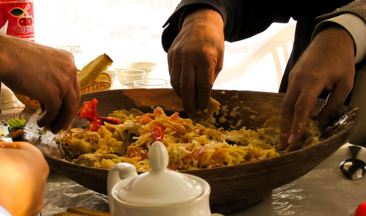 Traditioneel eten van qurutob
