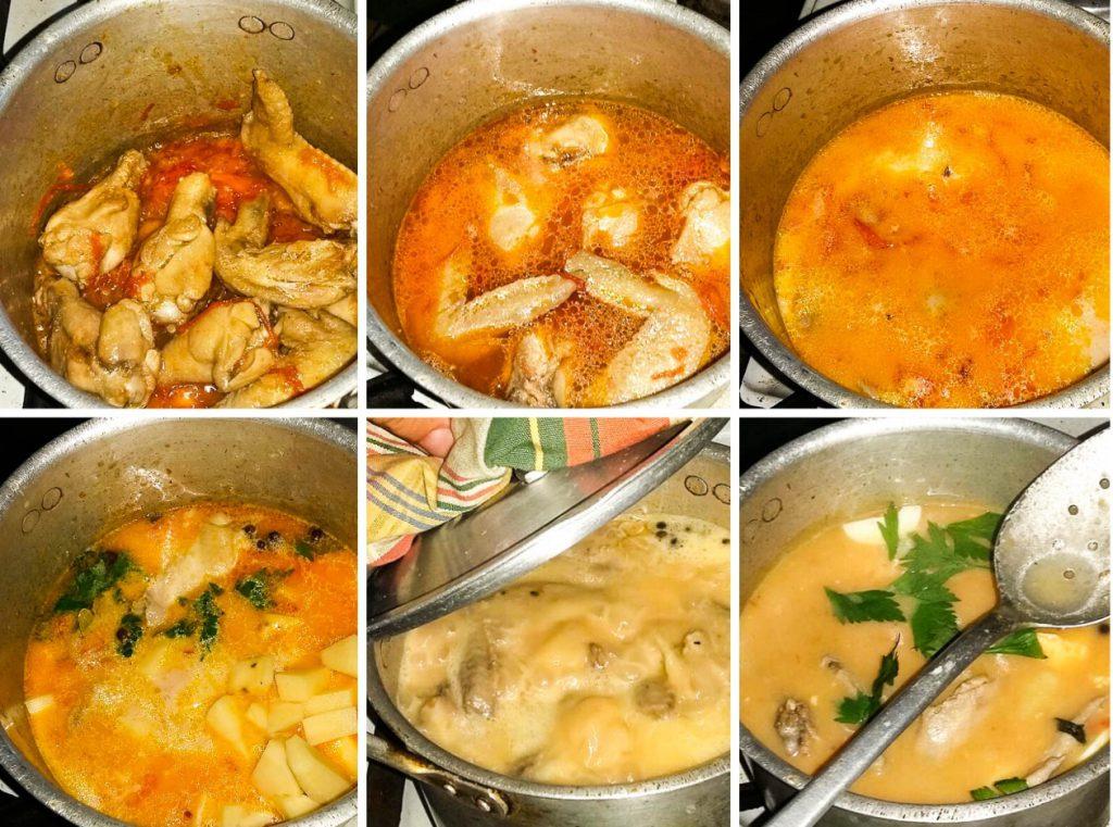 Surinaamse aardappelsoep - stappen