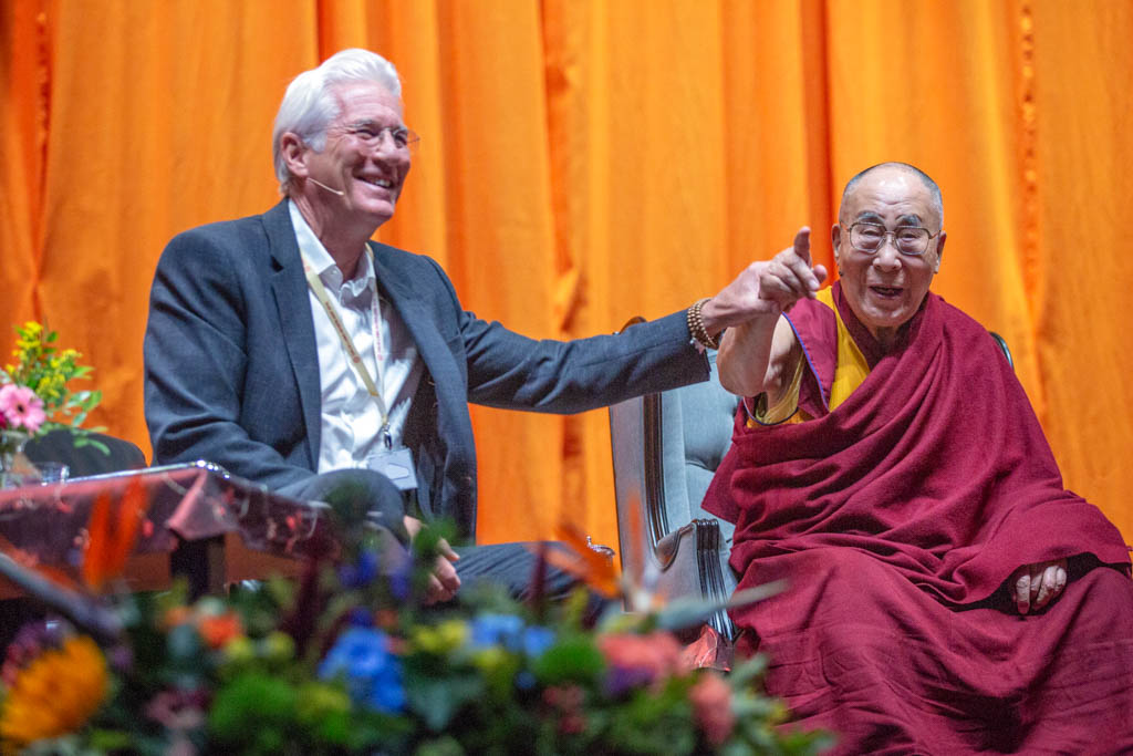 Dalai Lama en Richard Gere voor International Campaign for Tibet