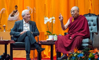 Dalai Lama en Richard Gere voor International Campaign for Tibet