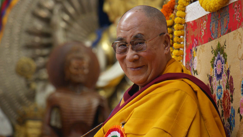 His Holiness The Dalai Lama at Long Life Ceremony in Dharamsala India - photo credit Lemle Pictures